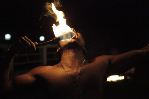 Fire breather at Kandy Cultural show - visit with Sri Lanka Trusted Tours