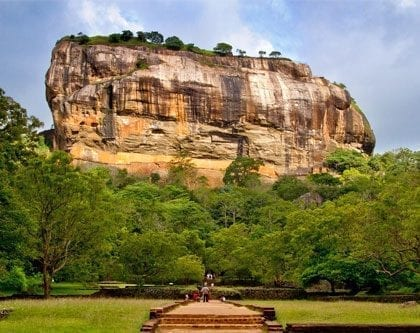 View of Sigiriya temple rock