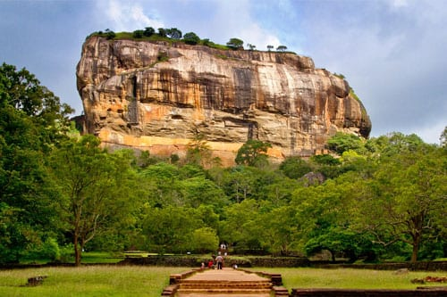 View of Sigiriya temple rock